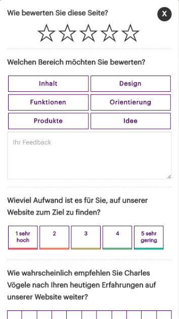 Customer Feedback Mobile Screenshot