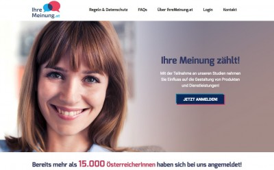 IhreMeinung.at - Our consumer panel IhreMeinung.at with +15.000 registered persons